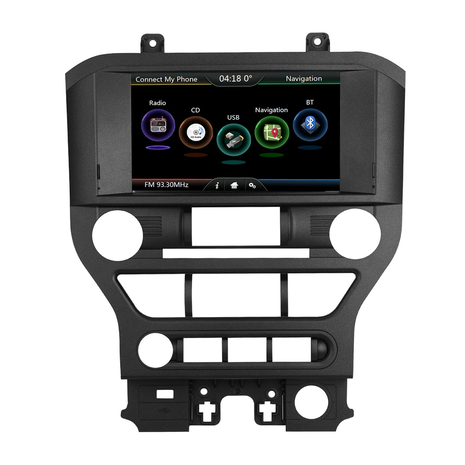 Ford Mustang 2015 2016 2017 In-dash GPS Navigation System, Upgrade Mustang Car Monitor 8 Inch HD Touchscreen Radio GPS Navigation with Rear Camera Input, AUX, USB Video, Audio Car Multimedia Player by Nicenjoy