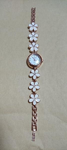 K-Giraffe-ケイ-ジラフ-ブレスレット風フラワー腕時計・Watch-レディース腕時計