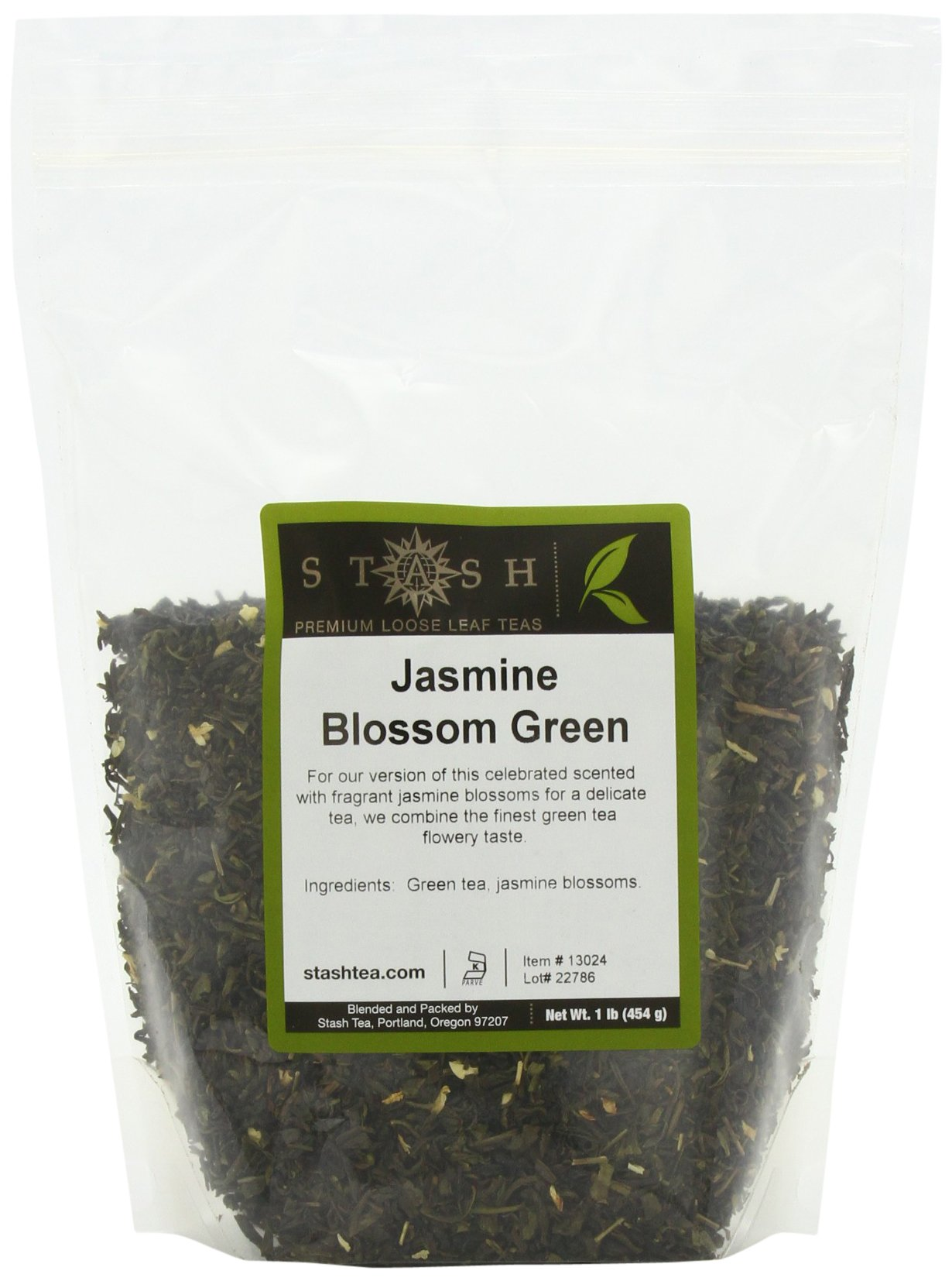 Stash Tea Jasmine Blossom Loose Leaf Tea, 16 Ounce Pouch