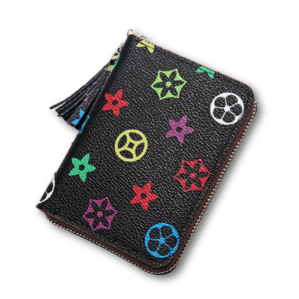 van Persie Flower Retro Purse Youth Fashion Trend Zipper Pocket Wallet