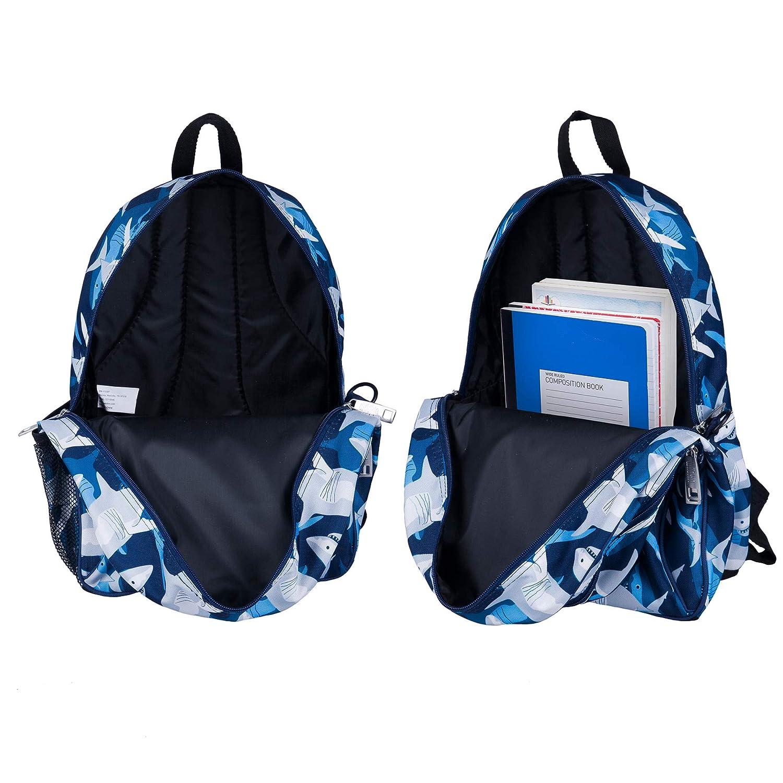 e0c92170504f Wildkin Children s Backpack with Side Pocket - Sharks  Amazon.co.uk  Luggage