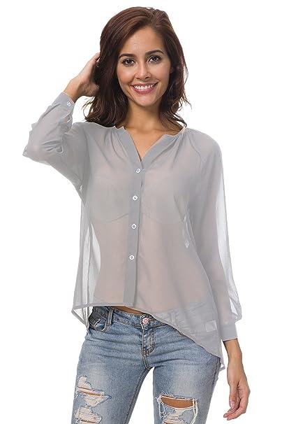 a55517b6 Blusas de moda tela transparente | Blusasmoda.org