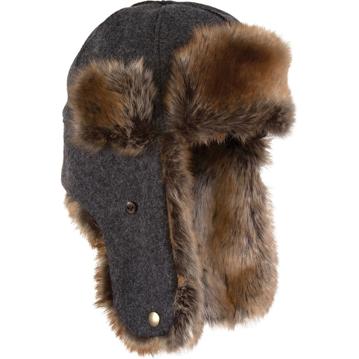 Stormy Kromer The Northwoods Trapper Hat, Color: Charcoal, Size: Xl (51210-00007