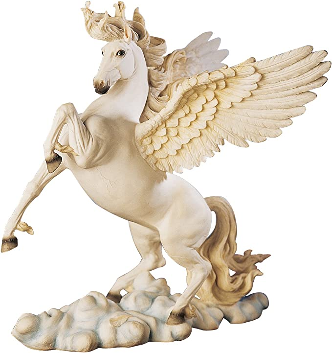 Amazon Com Design Toscano Wu70879 Pegasus Winged Horse Statue 11 Inch Polyresin Full Color Home Kitchen
