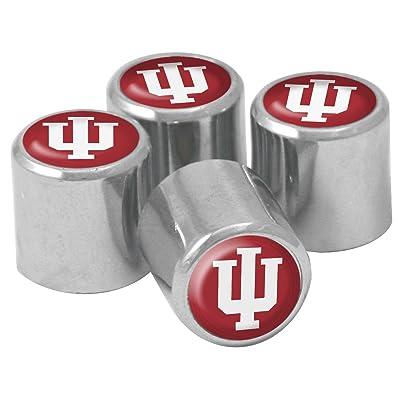 NCAA Indiana Hoosiers Metal Tire Valve Stem Caps, 4-Pack: Sports & Outdoors