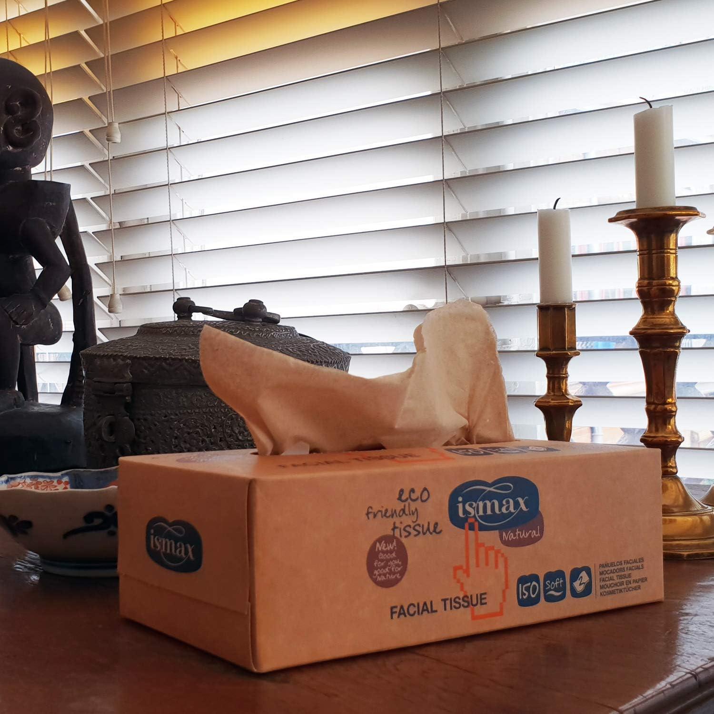 Pañuelos Papel Caja Reciclado Facial Tissues con Dispensador Eco 150 unidades - 25 Estuches: Amazon.es: Hogar