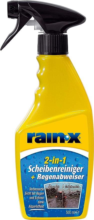 Rain X 831135 2 In 1 Scheibenreiniger Regenabweiser 500ml Gelb Auto