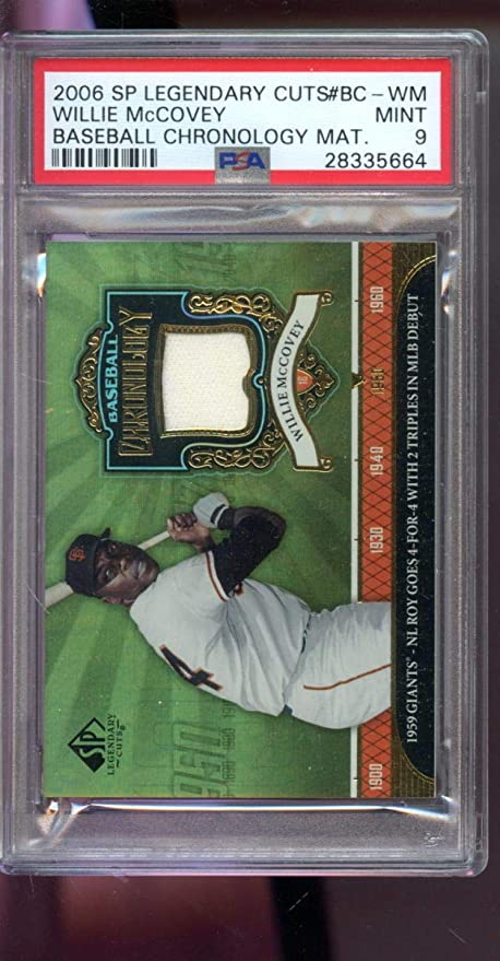 best cheap 93460 1492a 2006 SP Legendary Cuts Willie McCovey Jersey Game-Used ...