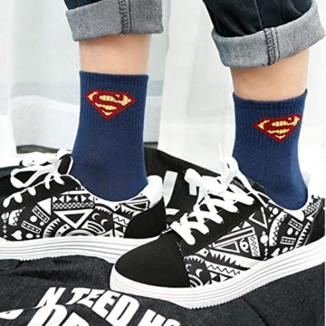WANG Calcetines Harajuku para Hombre Calcetines 100% algodón Hip Hop Street Skateboard Avengers League Tube 10 Doble, 44: Amazon.es: Deportes y aire libre