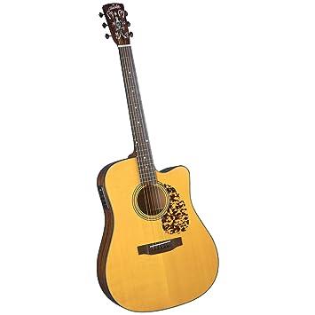 Blue Ridge BR-140CE nave eléctrica Dreadnaught incrustaciones de guitarra acústica con diseño de - negro: Amazon.es: Instrumentos musicales