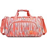 d8b117e769 AOKE Small Mixed Striped Travel Duffel Weekender Stand Bag with Shoulder  Strap
