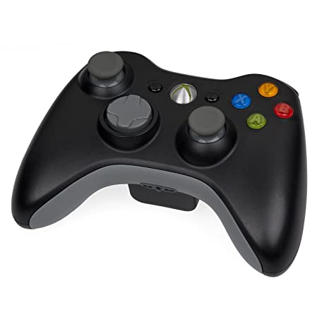 Amazon.com: Microsoft Xbox 360 Wireless Controller Black (Certified ...