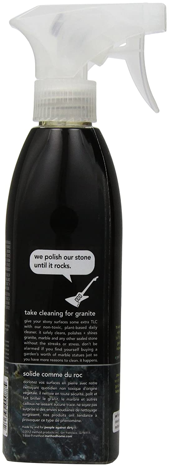 Care Of Granite Kitchen Countertops Amazoncom Method Naturally Derived Daily Granite Cleaner Spray
