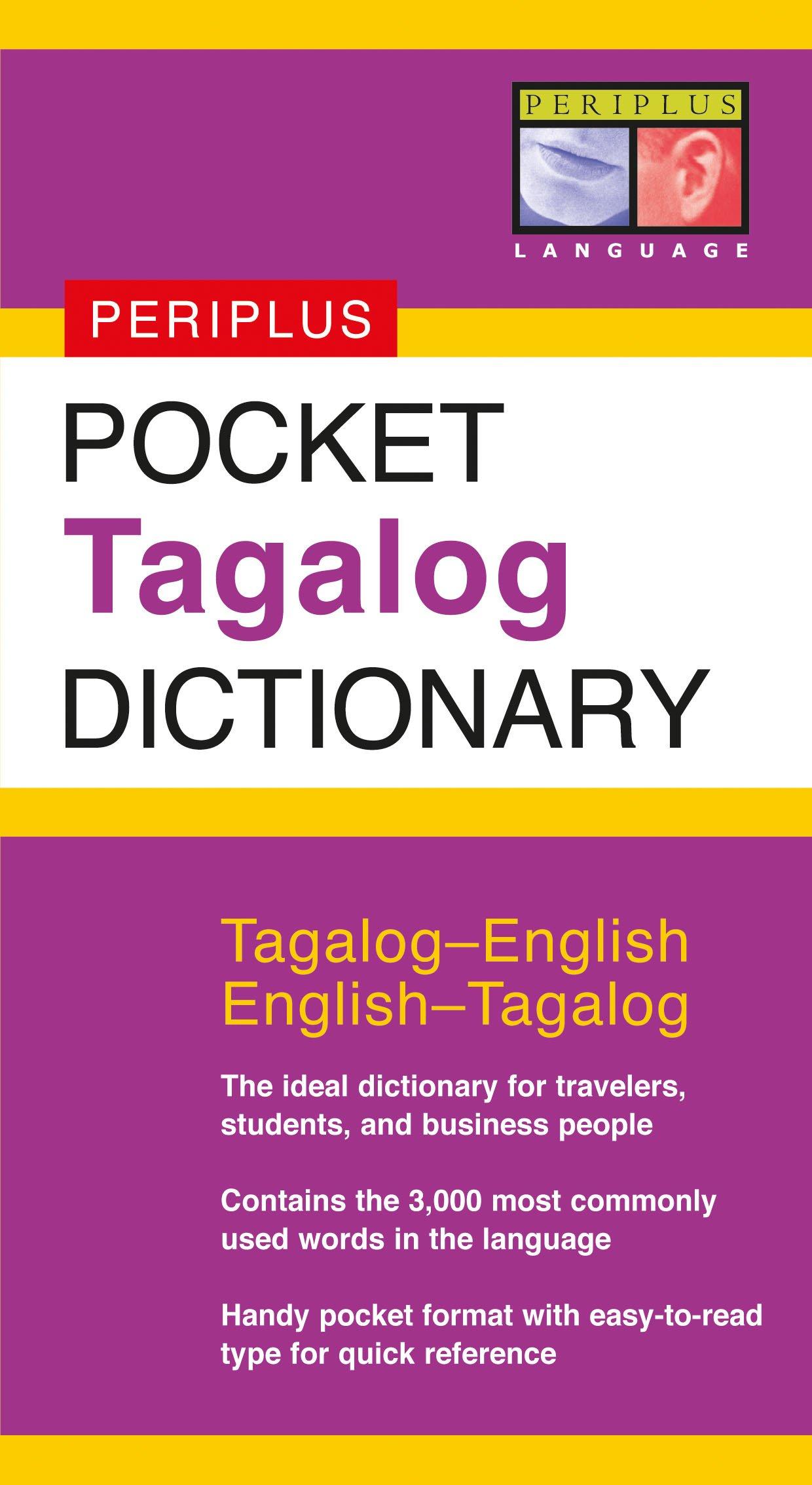 Amazon.com Pocket Tagalog Dictionary Tagalog English English ...