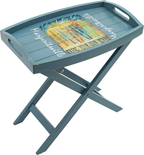 Margaritaville Outdoor Margaritaville Indoor/Outdoor Folding Wooden Butler Table