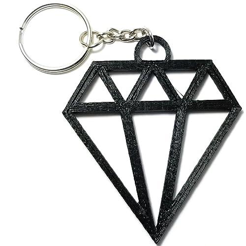amazon com diamond keychain accessory medium 3d printed by