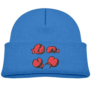 Qiop Nee Winter Beanie Hat Soft Knit Cap Different Angles of Boxing Gloves  Boys  Girls df2a447666c