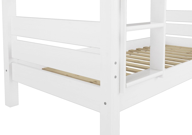 Erst-Holz Telaio Letto Castello 90x200 Bianco Anche per Adulti divisibile nicchia 100cm 60.16-09WT100oR