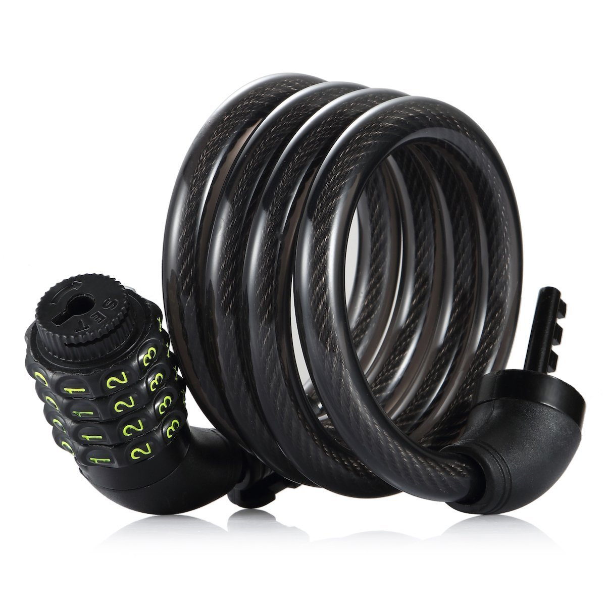 Amazer Bike Cable Lock, 6-Feet Bike Lock Cable Coiled Resettable Combination Cable Bike Locks with Mounting Bracket, 6 Feet x 1/2 Inch by Amazer (Image #3)