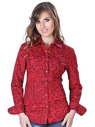 Camisa Vaquera Dama (Blusa) L/Sleeve (CLD) El General Red ID