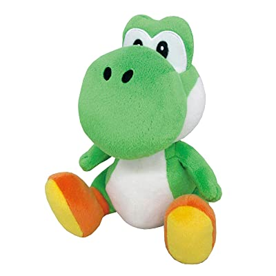 "Little Buddy Super Mario All Star Collection 1416 Yoshi Stuffed Plush, 8"",Multi-colored: Toys & Games"