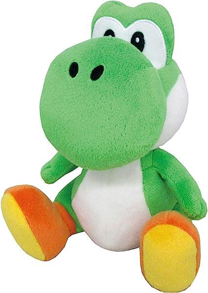 "Small Sanei Super Mario All Star Collection 8/"" Yoshi Plush"