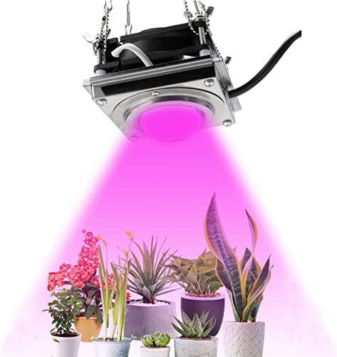 FrideMok LED Grow Lights for Indoor Plants,4000K 300W Sunlike Full Spectrum Plants Growing Lights with Cooling Stronger Heat Dissipation Without Noise,COB Plant Grow Lamp for House Plants