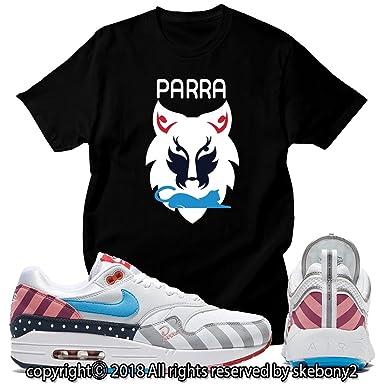 pas mal f23f0 b08c1 Custom T Shirt Matching Parra x Nike Air Max 1 and Spiridon ...