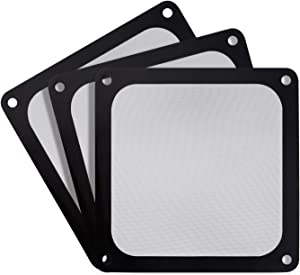 SilverStone Technology SST-FF143B-3Pk 140mm Ultra Fine Fan Filter with Magnet Cooling, Compatible with Most 140mm Fans or Vents