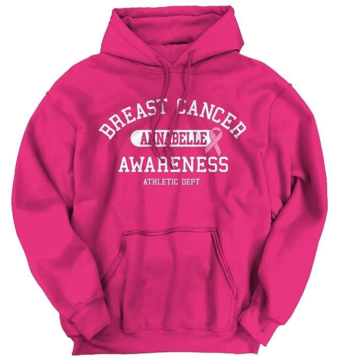 Campaña contra el cáncer de mama I Wear rosa para Annabelle personalizado camiseta sudadera con capucha sudadera: Amazon.es: Ropa y accesorios