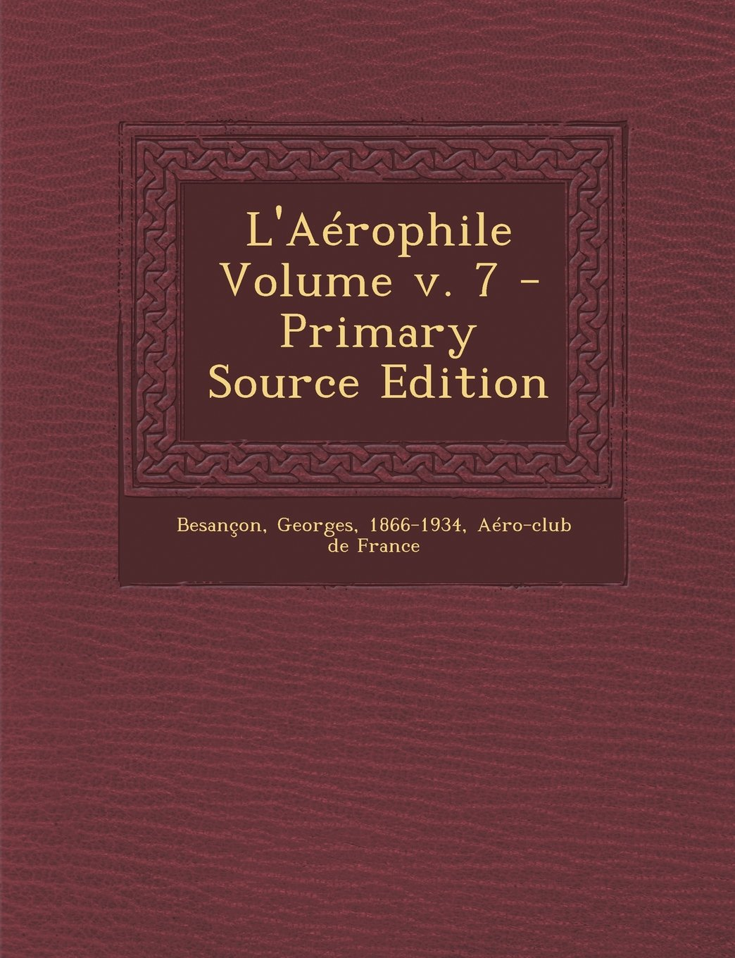 Download L'Aérophile Volume v. 7 (French Edition) pdf epub
