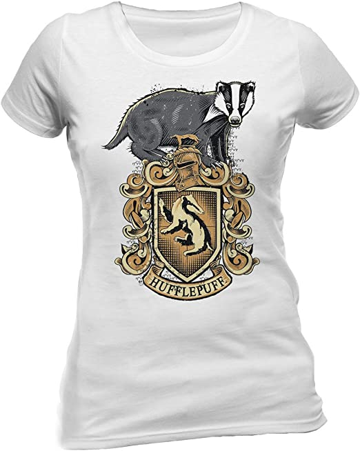 Harry Potter /'Hufflepuff Sport/' Womens Fitted T-Shirt NEW /& OFFICIAL!