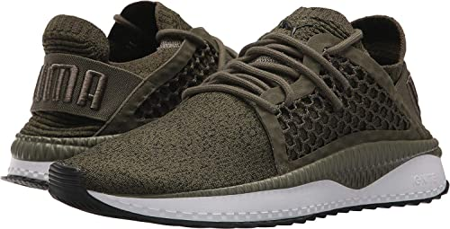 PUMA Men s Tsugi Netfit Evoknit Olive Night Puma White Puma Black Quarry 8 d6d9723cc