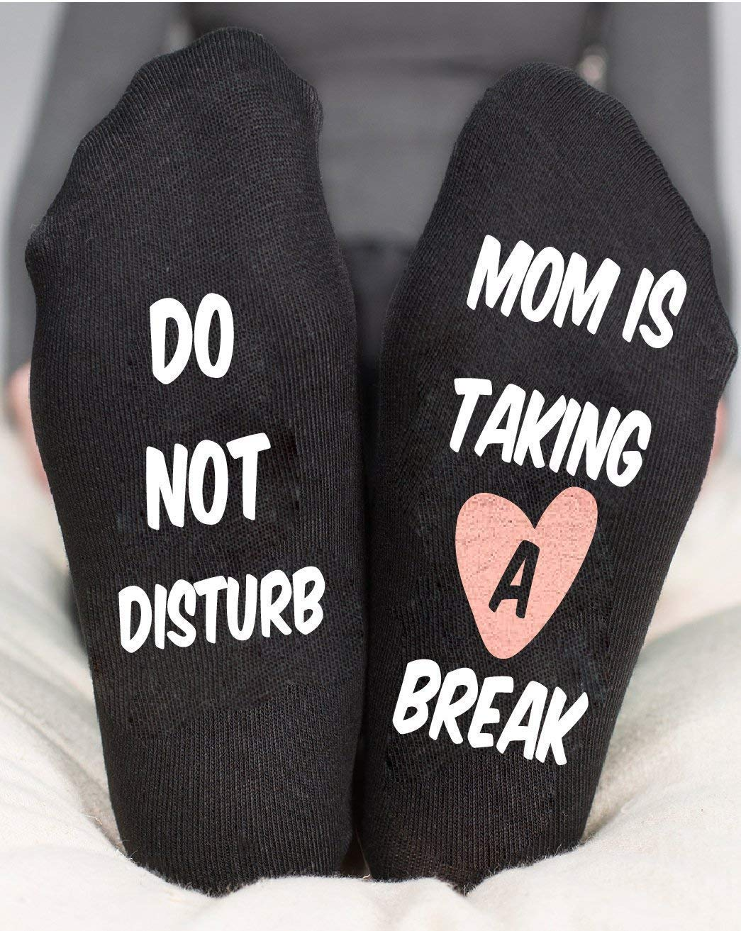 Do not Disturb Socks Mom Is Taking A Break Funny Gift Rose