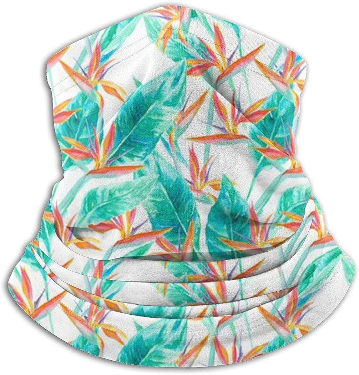 Birds of Paradise Microfiber Neck Warmer Balaclavas Soft Fleece Headwear Face Scarf Mask for Winter