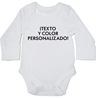 990c5e746 HippoWarehouse Texto y color personalizado body manga larga bodys pijama  niños niñas unisex