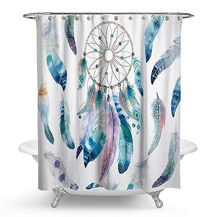 Dream Catcher Bathroom Shower Curtain Zeafeel Waterproof Mold And Mildew Resistant Polyester Fabric Bath