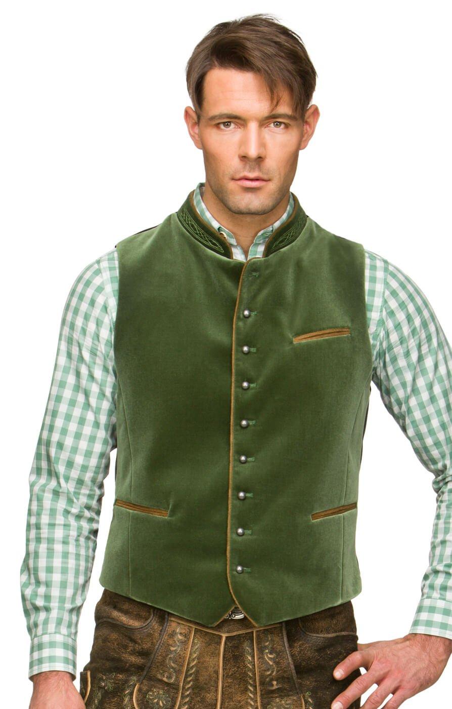 Traditional waistcoat Ricardo mossgreen