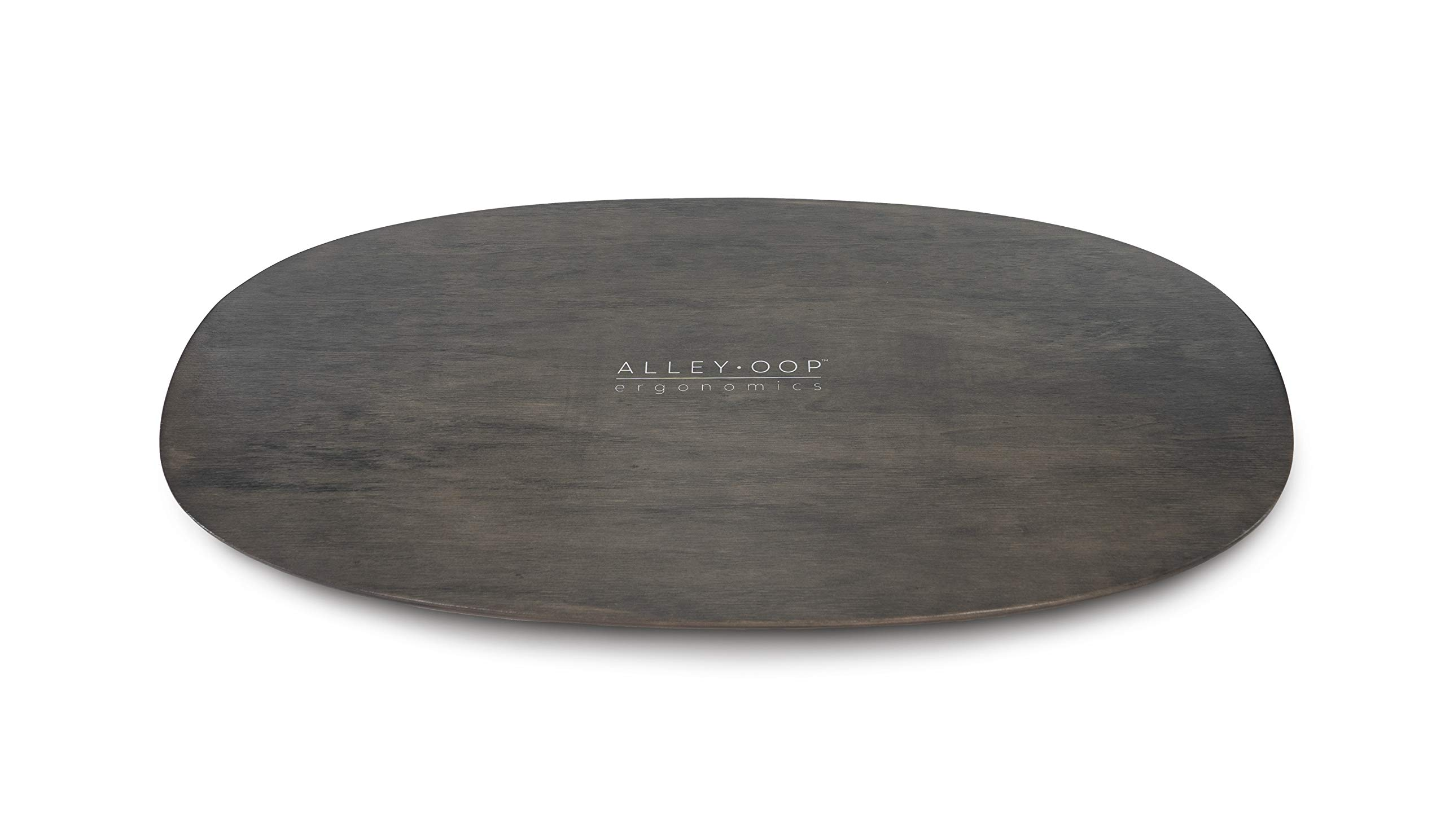 ALLEYOOP Wood Rocker Board • Unique 360° Omni-Directional Rocking Movement • Ergonomically Engineered for Stability at Your Standing Desk by JumpSport