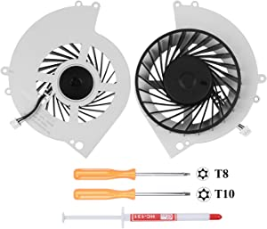 S-Union New Replacement Internal Cooling Fan for Sony Playstation 4 PS4 CUH-12XX CUH-1200 CUH-1200AB01 CUH-1200AB02 CUH-1215A CUH-1215B KSB0912HE Series (with Screwdrivers T8+T10 and Thermal Grease)