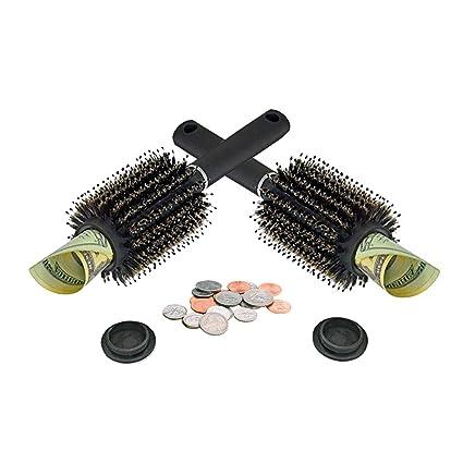 Mantello Hair Brush Diversion Safe Home Jewelry Safe Money Safe Black, Small