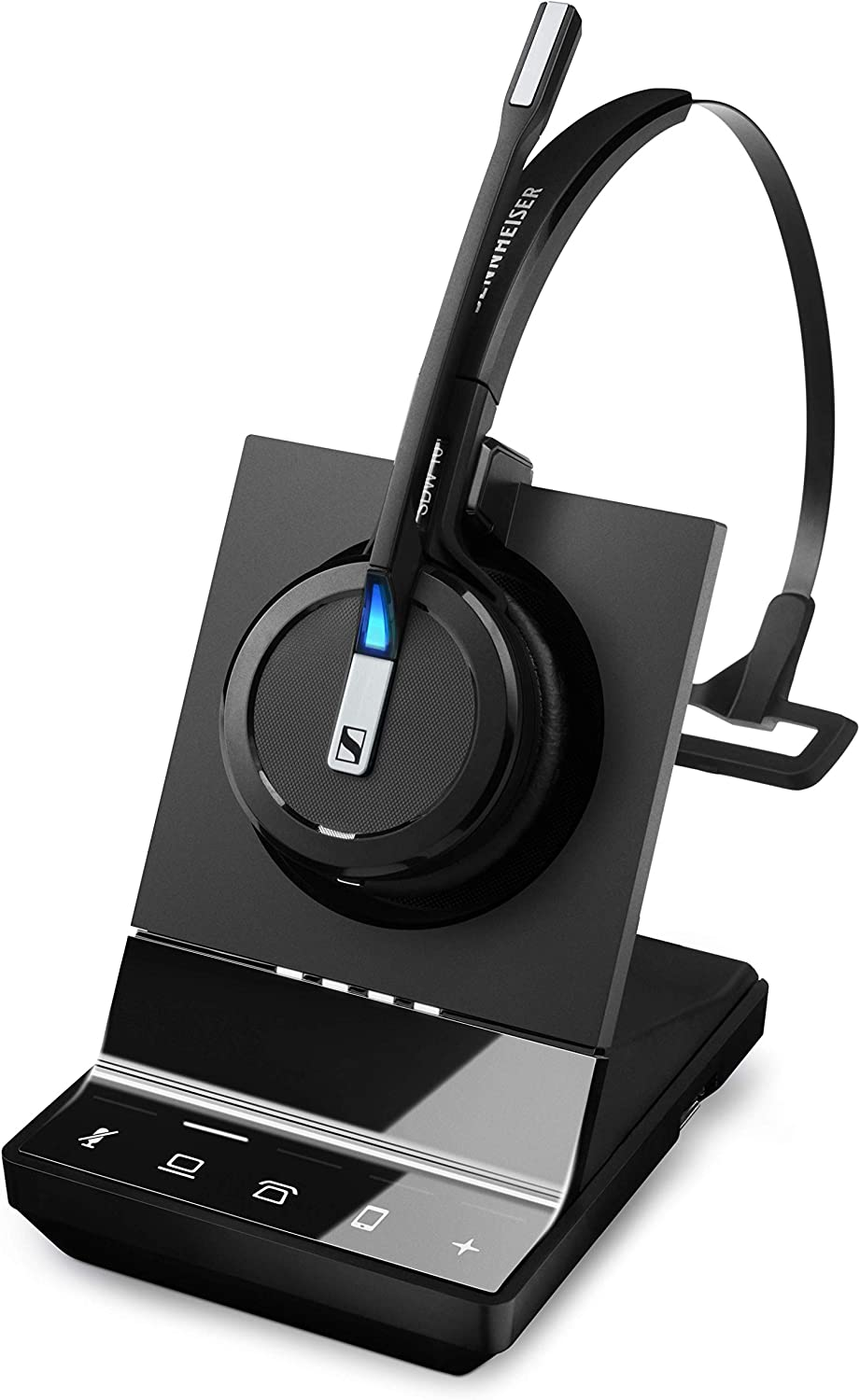 Sennheiser SDW 5015 (506592) Single-Sided Wireless DECT Super Wideband Headset for Desk Phone & Softphone/PC Connection Dual Microphone Ultra Noise-Canceling, Black