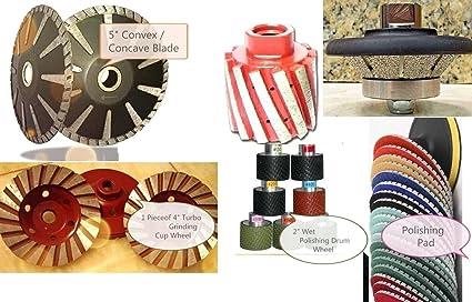 "5/"" Diamond Polishing 15 Pad Turbo Cup quartz GRANITE concrete sanding grinder"