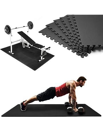 Esterilla puzzle de fitness | Alfombra puzzle | Placas en espuma EVA | Color Negro |