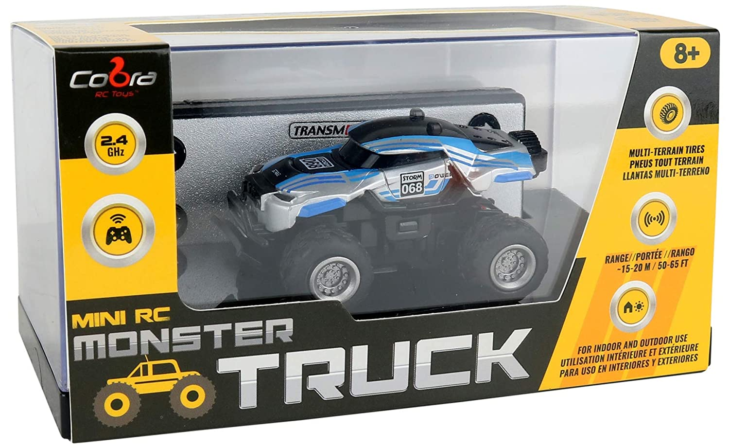 Amazon.com: Cobra Big Bad Mini Remote Control Monster Truck with 4 Cones in Attractive Display Case 2.5