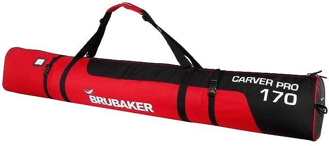 Brubaker Pro para esquís Skibag – 5 Colores – 170 cm o 190 cm – Bolsa de esquí Acolchada con Cierre Cremallera