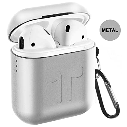 hot sale online a9474 52aee Metal Airpods Case, Full Protective Skin Cover Accessories Kits Compatible  with Airpods 1&2 Charging Case[Not for Wireless Charging Case]