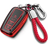 Tukellen for Toyota Key Fob Cover with Keychain Special Soft TPU Key Case Protector Compatible with 2018-2020 Toyota…
