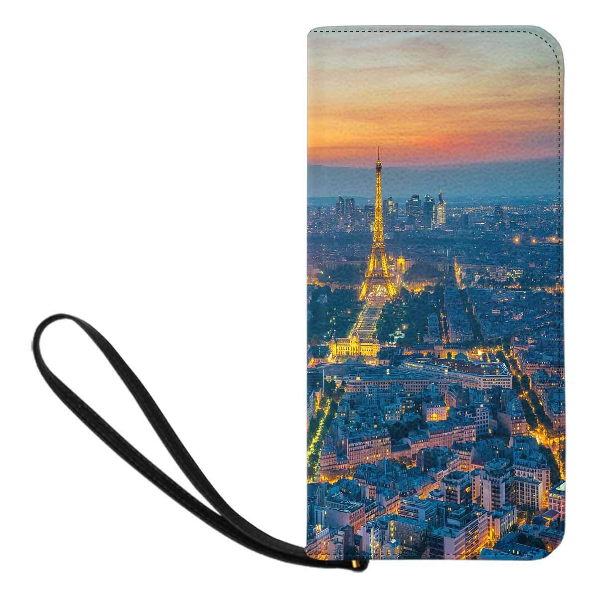 InterestPrint Womens Paris Clutch Purse Card Holder Organizer Ladies Purse