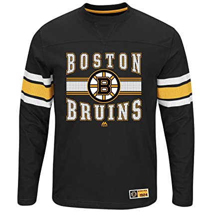 new products f296f 45da4 Amazon.com : Majestic Boston Bruins Adult Black Forecheck ...